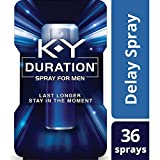 Duration Spray for Men,  K-Y - Male Genital Desensitizer Spray to last longer, 0.16 fl Oz.,  36 Sprays/0.16 Made With Delay Lube for Men To Help Men Last Longer In Bed