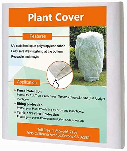Agfabric Warm Worth Plant Cover for Frost Protection, Multi Sizes for Your Choice.95oz (108''x96'')