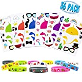 Shark Stickers with Wristbands Bracelets Shark Party Favors for Birthday Party Supplies Under the Sea Theme Party Decorations