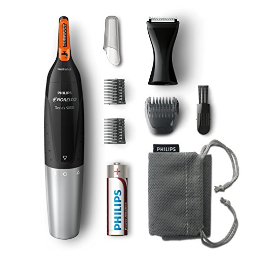 Philips Norelco NT5175/49, Nose Hair Trimmer 5100,Washable Mens Precision Groomer for Nose, Ears, Eyebrows, Neck, and… 1