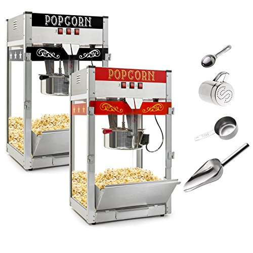 Olde Midway Commercial Popcorn Machine Maker Popper with Large 12-Ounce Kettle - Red