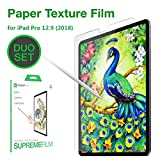Paperlike Screen Protector Compatible with iPad Pro 12.9 inch,Anti Glare,Scratch Resistant,Matte PET Film, Apple Pencil Compatible,2 Pack