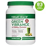 Vibrant Health - Green Vibrance, Plant-Based Superfood to Support Immunity, Digestion, and Energy with Over 70 Ingredients, 25 Billion Probiotics, Gluten Free, Non-GMO, Vegetarian, 84 Servings
