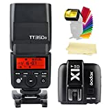 Godox TT350-O 2.4G TTL GN36 1/8000s High-Speed Sync Camera Flash Speedlite + X1T-O Wireless Flash Trigger Transmitter compatible for Olympus Panasonic Cameras