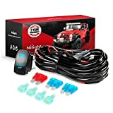 Nilight 50026R Digital Tire Inflator with Pressure Gauge,250 PSI Air Chuck and Compressor Accessories Heavy Duty with Rubber Hose and Quick Connect Coupler for 0.1 Display Resolution,2 Year Warranty