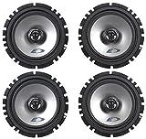 (2) Pairs Alpine SXE-1725S 6.5' 40 Watt RMS 4 Ohm 2-Way Coaxial Car Audio Speakers