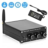 [Updated] BT20A Bluetooth 4.2 Stereo Audio 2 Channel Amplifier Receiver Mini Hi-Fi Class D Integrated Amp 2.0CH for Home Speakers 100W x 2 with Bass and Treble Control TPA3116 (with Power Supply)