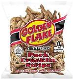 Golden Flake Pork Cracklins W/Red Pepper Seasoning 3.50 oz (Pack 12)
