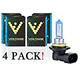 Voltage Automotive 9006 HB4 Headlight Bulb Polarize White Replacement (4 Pack) - Professional Upgrade Head Light Bulb
