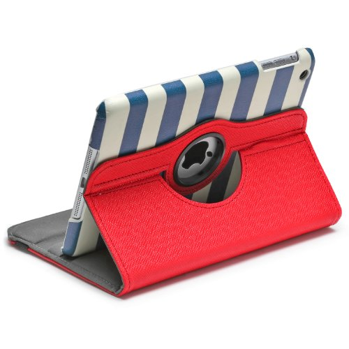 Aduro ROTATA 360 Degrees Rotating Case Cover Folio w/Stand for Apple iPad Mini / 2/3 (Cabana)