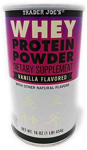 Trader Joe's Whey Protein Powder Dietary Supplement Vanilla Flavor 16oz w/Other Natural Flavors