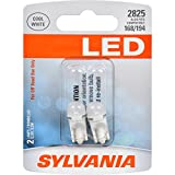 SYLVANIA - 2825 T10 W5W LED White Mini Bulb - Bright LED Bulb, Ideal for Interior Lighting - Map, Dome, Cargo and License Plate (Contains 2 Bulbs)
