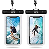 JOTO Universal Waterproof Case, IPX8 Cellphone Dry Bag Pouch Underwater Case for iPhone Xs Max XR XS X 8 7 6S Plus, Galaxy S10+ S10 S9 S8+/ Note 10 10+ 5G 9 8, Pixel 3a 3 XL up to 6.8' -2 Pack, Clear