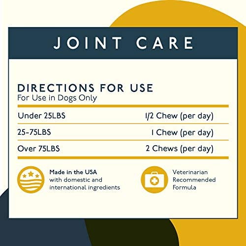 51NDxxO4h8L. AC  - Petlab Co. Joint Care Chews for Dogs | Arthritis Soft Chew Dog Hip and Joint Chewable Supplement Vitamins | MSM, Glucosamine, Fish Oil Omega-3 Fatty Acids, Calcium Fluoroborate, Turmeric