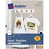 Avery Printable T-Shirt Transfers, For Use on Light Fabrics, Inkjet...
