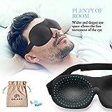OriHea Eye Mask for Sleeping, Sleep Mask for Men and Women, Patented Design 100% Blackout Sleep Mask Comfortable Eye Mask Blindfold, Black