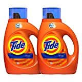 Tide Laundry Detergent Liquid, Original Scent, HE Turbo Clean, 50 oz, Pack of 2, 64 Loads Total (Packaging May Vary)