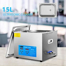 VIVOHOME-Professional-15L-Touch-Controllable-Ultrasonic-Cleaner-Machine-with-Digital-Timer-and-Heater-for-Parts-Jewelry-Watch-Coin-Glass-Circuit-Board