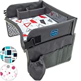 Kenley Kids Travel Tray, Toddler Car Seat Lap Tray, 16.5 x 13.5 Inches, Red