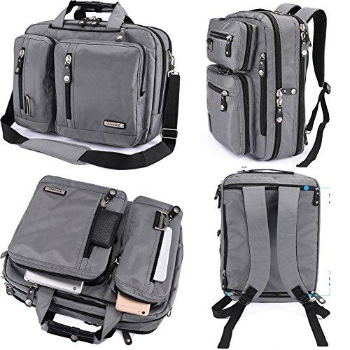 FreeBiz 18 Inches Laptop Briefcase Backpack Messenger Bag Shoulder Bag Laptop Case Handbag Business Bag Fits Up to 18.4 Inch Gaming Laptops for Men and Wonmen(18.4 inches, Grey)