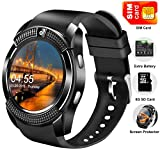 Smart Watch Phone with SIM Card,Touchscreen SmartWatch for Android IOS Women Men Outdoor Sport Fitness Tracker Watch with Camera Call Smart Wrist Watch Pedometer Sleep Monitoring Music Mother Day Gift