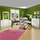 Product review for South Shore Logik Kids Pure White Twin Wood Mates Storage Bed 4 Piece Bedroom Set