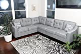 """Product review for Oliver Smith - Large Light Grey Linen Cloth Modern Contemporary Upholstered Quality Sectional Left or Right Adjustable Sectional 106"""" x 82.5"""" x 34"""""""