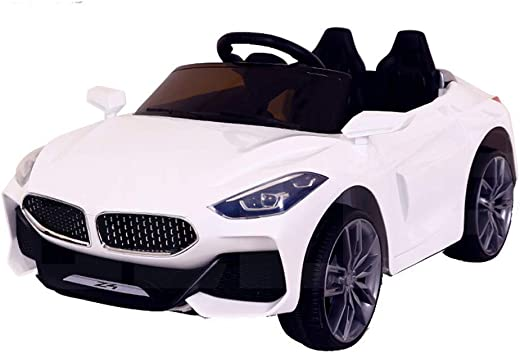 SRECAP Fiesta Z4 Kids Battery Operated Ride on Car for Kids with|Suitable for 2-7 Years| 12V Battery| Twin Motors| Swing Function| White