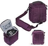 Navitech Purple DSLR & Lens Camera Bag Case For Olympus E-M5 Mark II