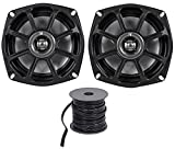 Kicker 10PS5250 5.25 Harley Davidson Motorcycle Speakers+Waterproof Wire PS5250