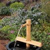Bamboo-Accents-Water-Fountain-Spout-Complete-Kit-includes-Submersible-Pump-for-Easy-Install-Handmade-IndoorOutdoor-Natural-Split-Free-Bamboo-Adjustable-Height-Medium-12-Inches