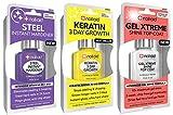 NAIL-AID Hardener + Keratin Growth + Gel Top Coat, Clear, 3 Count