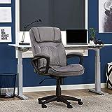 Serta Executive Office Chair in Velvet Gray Microfiber, Black Base