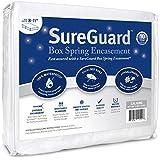 Split Cal King SureGuard Box Spring Encasement Pack - 100% Waterproof, Bed Bug Proof, Hypoallergenic - Premium Zippered Six-Sided Covers - 10 Year Warranty