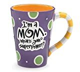 "I'm A Mom, What's Your SuperPower?"" 12oz Coffee Mug (Purple)"