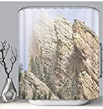 BEICICI Color Shower Curtain Liner Anti-Mildew Antibacterial Clearing Storm Over Flatirons in Boulder Colorado Custom Shower Curtain Bathtub Bathroom Accessories 60W×72Linch