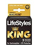 LifeStyles King Larger Size Condoms, 6.8 Ounce