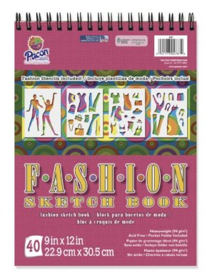 Pacon Fashion Design Sketch Book, 9″X12″, 40 Sheets