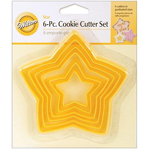 Wilton 2304-111  Juego 6  Cortadores  de galletas forma estrella