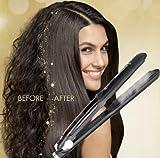 Professional Steam Ceramic Hair Straightener Flat Iron,Hair Salon Steam Styler Ionic Steamer 3-in-1,Straightner Curler Flip-up | For Argan Oil Hair Treatment Vapor,250°F-450°F For Dry & Wet Hair