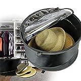 The Elixir Deco Premium Collapsible Pop-Up Dust Cover Hat Bag Organizer Stroage Travel Bag Round Hat Box