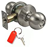 Door Hardware Doorknobs : Entry Function : Restricted High Security Key Lock : Stainless Steel : By Faultless