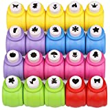 Kattool Paper Punches Set, Mini Crafting Paper Punch Crafts Puncher Image Hole Cutters for Scrapbooks Albums Photos Cards and DIY Handcrafts, Pack of 20, 20 Patterns