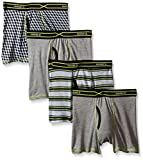Hanes Boys' 4-Pack X-Temp Boxer Brief, Assorted, Small