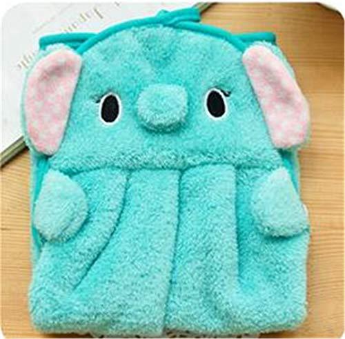Alexlove 1PC Kitchen Bathroom Cartoon Hanging Towel Cute Animals Baby Hand Towel Hanging Bath Towel Elephant