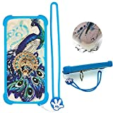 Case for Tracfone Alcatel Tcl A1 A501dl Case Silicone border + PC hard backplane Stand Cover XKQ