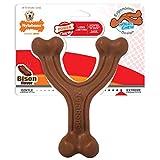 Nylabone Ergonomic Hold & Chew Wishbone Power Chew Durable Dog Toy, Bison, 1 Count, Giant