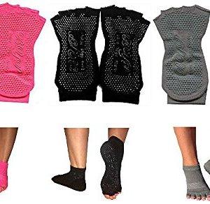 BYP-Barre-Yoga-Pilates-Compression-Fit-Grip-Socks-Half-Toe-Non-Slip-Yoga-Socks