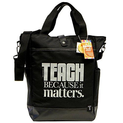 Teacher Peach Inspirational Teacher Tote Bag, Convertible Crossbody Utility Teacher Bag with Pockets, Perfect Teacher Appreciation Gift for Women