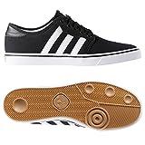 adidas Originals Men's Seeley Skate Shoe,Black/White/Gum,11 M US